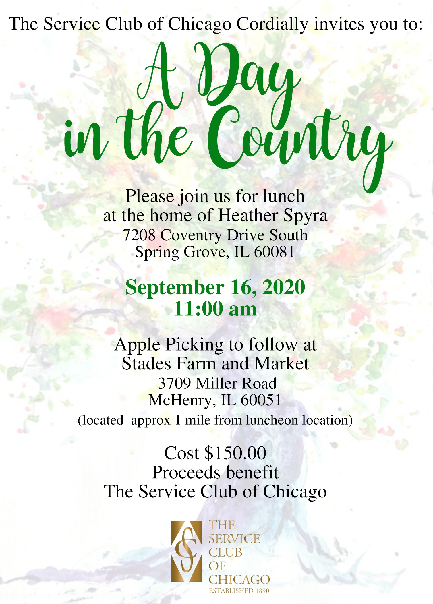 A Day in the Country 2020 Invite