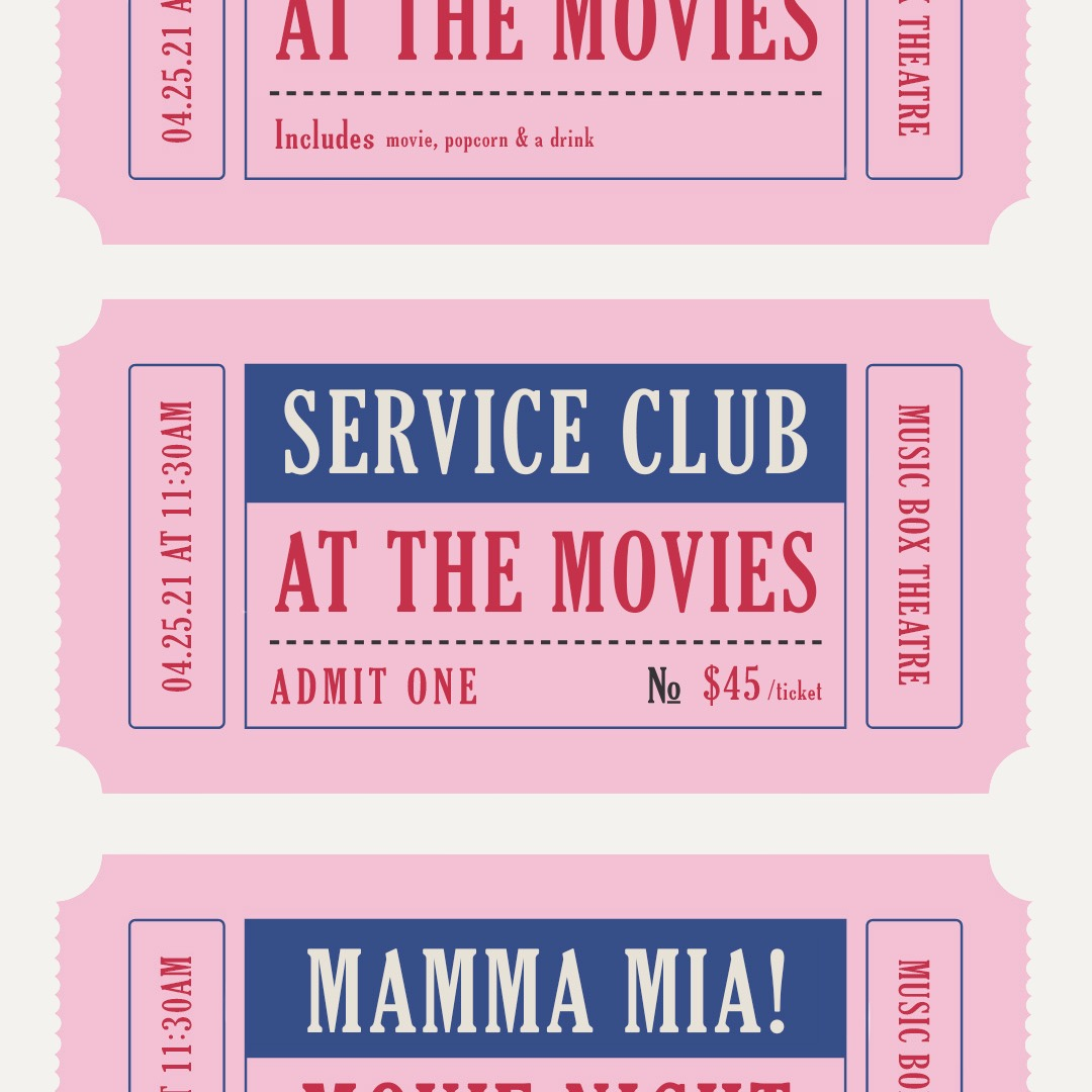 Service Club at the Movies
